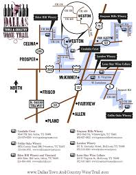 Map Of Texas Wineries.Dallas Town And Country Wine Trail Texas Uncorked