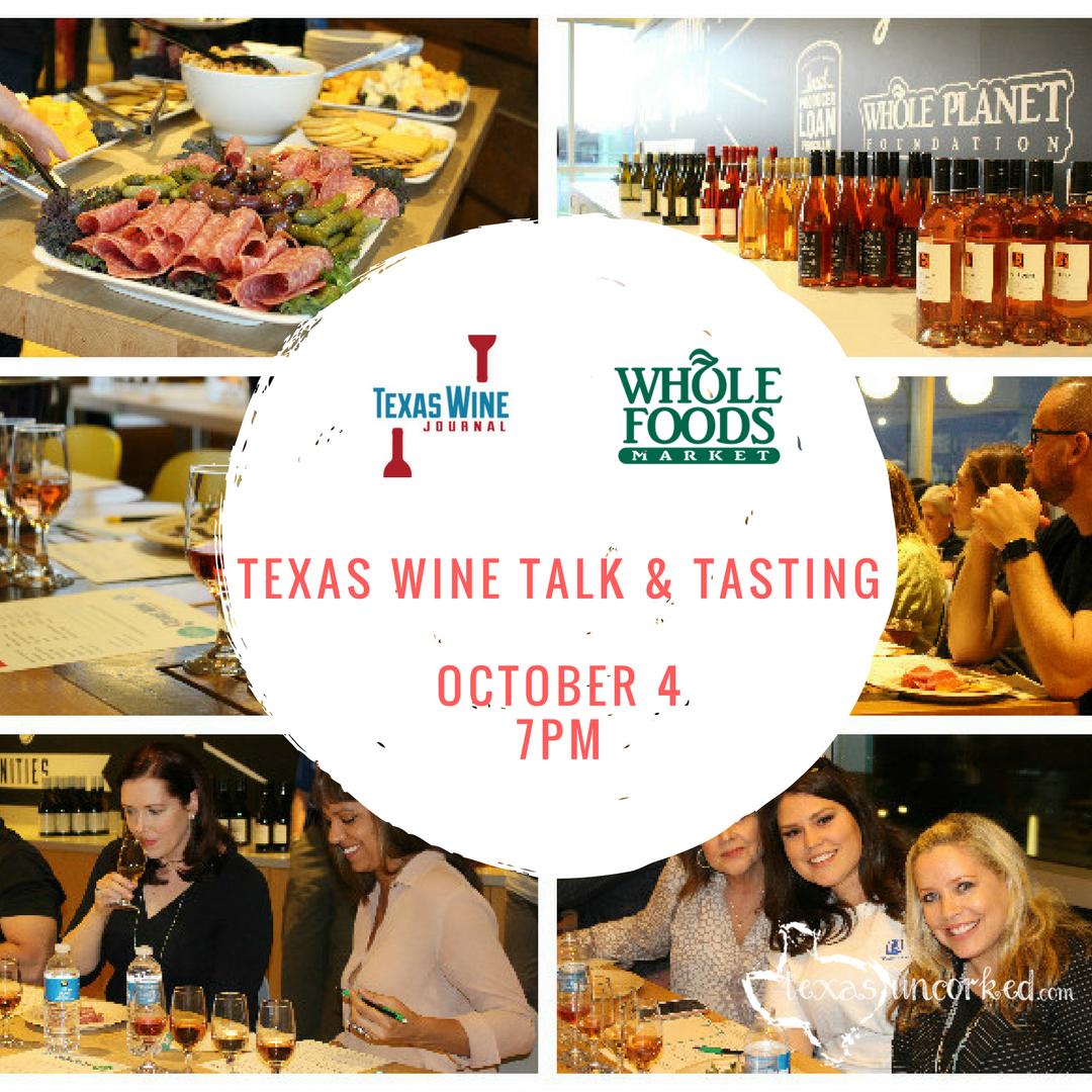 Texas Wine Talk and Tasting - Houston - October